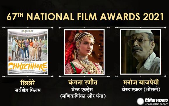 सुशांत की 'छिछोरे' सर्वश्रेष्ठ हिंदी फिल्म, कंगना को बेस्ट एक्ट्रेस और मनोज वाजपेयी बेस्ट एक्टर का खिताब, जानें किसे क्या मिला