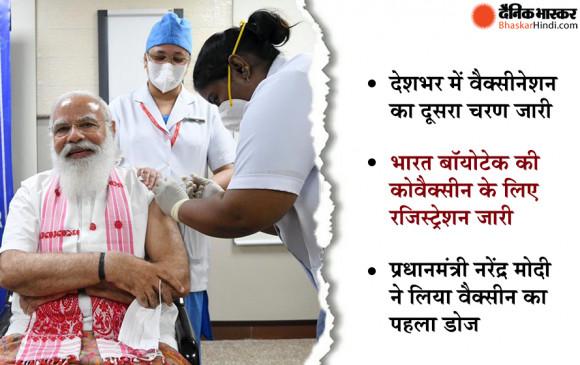 प्रधानमंत्री नरेंद्र मोदी ने कोरोना वैक्सीन का पहला डोज लिया, कहा-वैक्सीन लेने के लिए योग्य हैं
