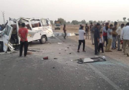 राजस्थान News: नेशनल हाईवे 11 पर बस और ट्रेलर ट्रक की टक्कर में 5 लोगों की मौत