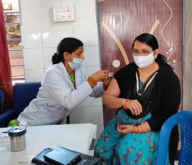 जिले में अब तक 42 हजार से ज्यादा को लगी कोरोना वैक्सीन की पहली डोज