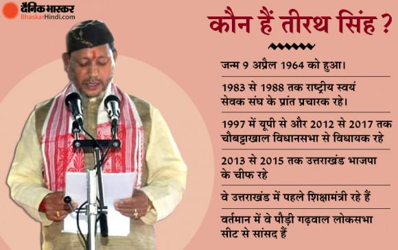 Uttarakhand: तीरथ सिंह रावत बने नए CM, शपथ के बाद बोले- RSS में मिली है ट्रेनिंग, सबको साथ लेकर चलूंगा