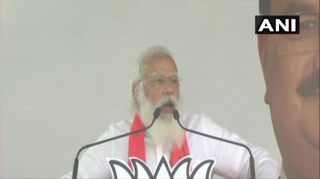 पश्चिम बंगाल विधानसभा चुनाव: बांकुरा में बोले पीएम मोदी, दीदी भ्रष्टाचारे खेला चालबे न चालबे न, बीजेपी स्कीम और TMC स्कैम पर चलती है