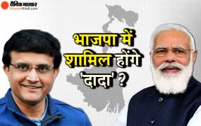 बंगाल में भाजपा का चुनावी चेहरा बनेंगे सौरव गांगुली ? बीजेपी ने कहा...