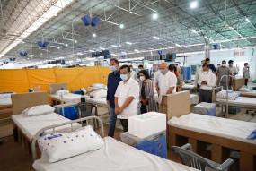 आईटीबीपी ने राधास्वामी सत्संग व्याज आश्रम में 500 बेड का कोविड सेंटर शुरू किया, केजरीवाल ने व्यवस्था का जायजा लिया