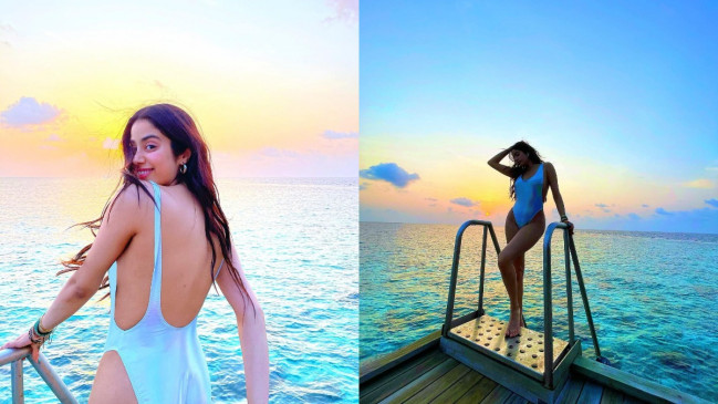 Bikini shoot: मालदीव वैकेशन पर जाह्नवी कपूर , समंदर किनारे बिखेरी अदाएं