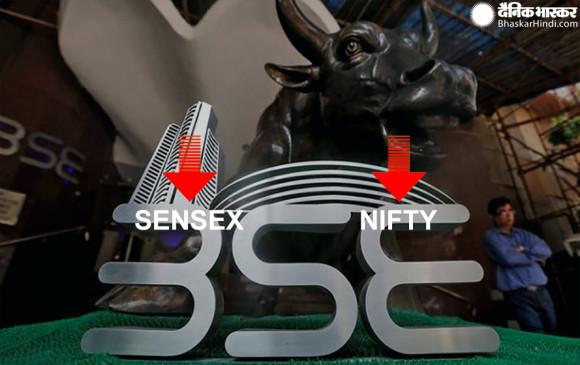 Closing bell: गिरावट पर बंद हुआ बाजार, सेंसेक्स 154 अंक लुढ़का, निफ्टी भी फिसला