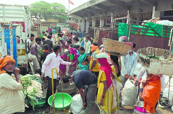 नागपुर : लॉकडाउन में शुरू साप्ताहिक बाजार बंद कराया
