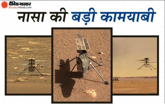 नासा की बड़ी कामयाबी, मंगल ग्रह पर पहला मिनी हेलीकॉप्टर उड़ाने में सफल