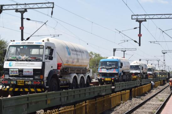 महाराष्ट्र पहुंची ऑक्सीजन एक्सप्रेस, 24 घंटे में बनाया रैंप