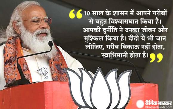पश्चिम बंगाल विधानसभा चुनाव: PM मोदी बोले- मैं जो बोल रहा हूं, 'दीदी, ओ दीदी' इससे भी उनको गुस्सा आता है