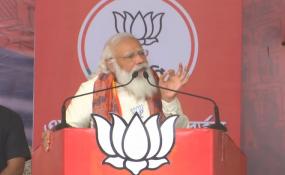 West Bengal Election: बर्धमान में PM मोदी बोले- आधे चुनाव में TMC पूरी साफ