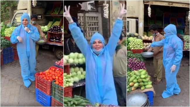 इस एक्ट्रेस ने पीपीई किट पहनकर खरीदी सब्जियां, वीडियो वायरल