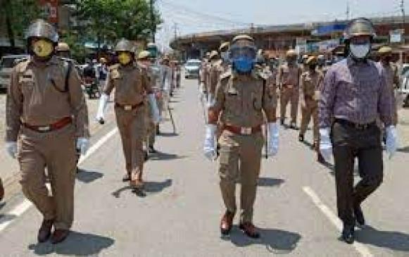 रामटेक पुलिस ने जनजागृति के लिए किया रूट मार्च, नहीं माने तो होगी कार्रवाई