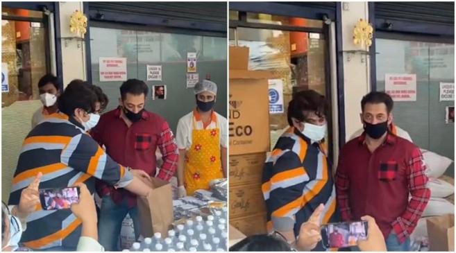 सलमान खान ने मदद का बढ़ाया हाथ, फ्रंटलाइन वर्कर्स को भेजे 5000.....