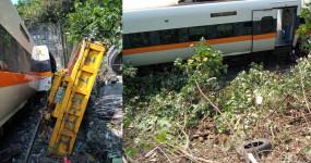Accident: ताइवान में बड़ा हादसा, ट्रक से टकराने के बाद पटरी से उतरी ट्रेन, 41 लोगों की मौत