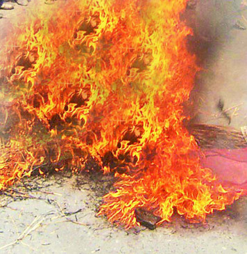 प्रशासकीय इमारत में आग, दस्तावेज जलकर खाक