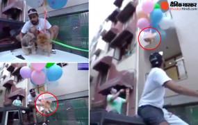 वीडियो बनाने के लिए कुत्ते को गुब्बारे से बांधकर उड़ाया, दिल्ली पुलिस ने यूट्यूबर को अरेस्ट किया