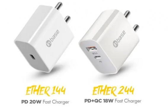 फास्ट चार्जर: Inbase ने भारत में लॉन्च किए Ether 144 और Ether 244, जानें कीमत