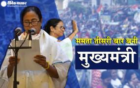 दीदी की ताजपोशी: ममता बनर्जी तीसरी बार बनीं पश्चिम बंगाल की मुख्यमंत्री, राज्यपाल जगदीप धनखड़ ने शपथ दिलाई