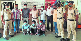 रेलवे ब्रिज बोल्ट, हुक-बोर्ड चुराने वाले चार आरोपियों को आरपीएफ ने पकड़ा
