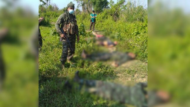 असम राइफल्स और पुलिस का नागालैंड की सीमा पर ज्वॉइंट ऑपरेशन, डीएनएलए के सात उग्रवादी मारे गए