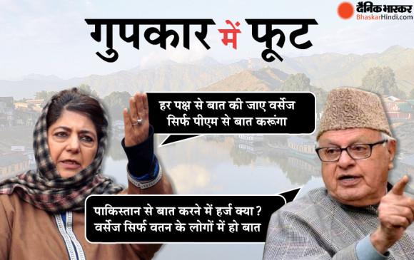 पीएम मोदी से बैठक से पहले गुपकार गुट में दरार, अलग अलग हुए बड़े नेताओं के सुर - bhaskarhindi.com