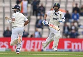 India vs New Zealand: पहली पारी में इंडिया का स्कोर 146/3, कोहली-रहाणे क्रीज पर मौजूद