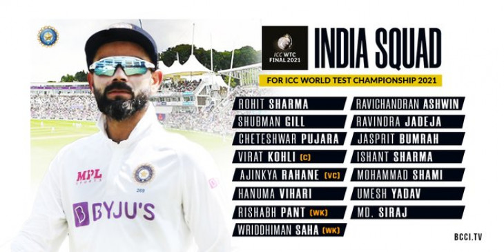 WTC फाइनल के लिए भारत ने 15 सदस्यीय टीम की घोषणा की, राहुल और अक्षर जैसे नाम शामिल नहीं