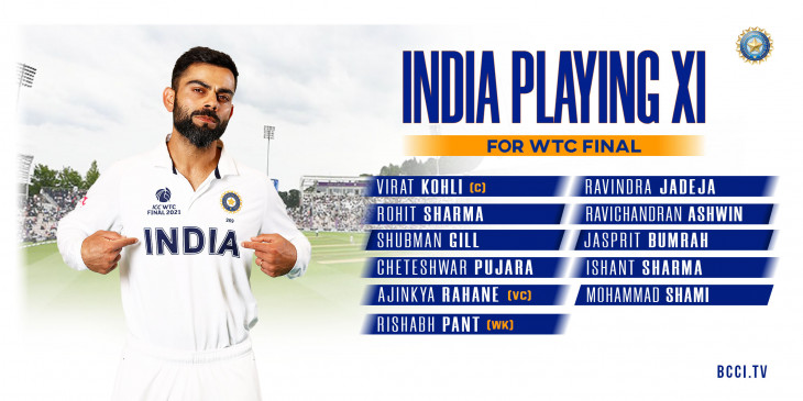 WTC Final: India announces playing XI, Team India will go against New  Zealand with five bowlers