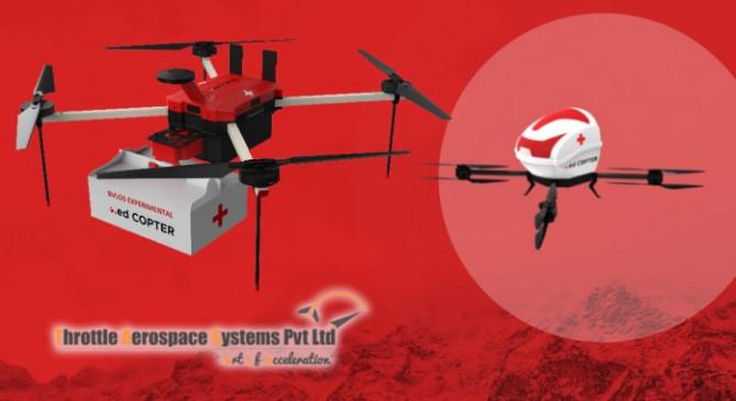 ड्रोन से घर-घर पहुंचेंगी दवाएं, भारत के पहला मेडिकल ड्रोन डिलीवरी ट्रायल 18 जून से - bhaskarhindi.com