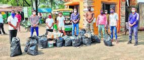 नागपुर : जैव-विविधता पार्क में सफाई अभियान