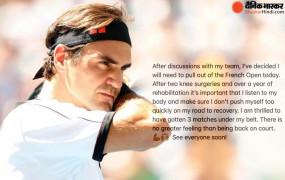 French Open 2021: टेनिस स्टार फेडरर ने नाम वापस लिया; डेढ़ साल से घुटने की चोट से जूझ रहे, 20 बार जीत चुके हैं ग्रैंड स्लैम