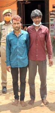 कालीघाटी के जंगल से गैंगलीडर गौरी यादव के दो साथी गिरफ्तार - दो कट्टे और 3 जिंदा कारतूस जब्त