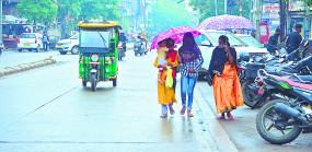 नागपुर में रुक-रुक कर हो रही बारिश , मौसम में घुली ठंडक