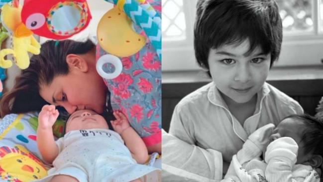 """छोटे बेटे """"जेह अली खान"""" का माथा चूमते नजर आई करीना कपूर खान, तस्वीर हुई वायरल"""