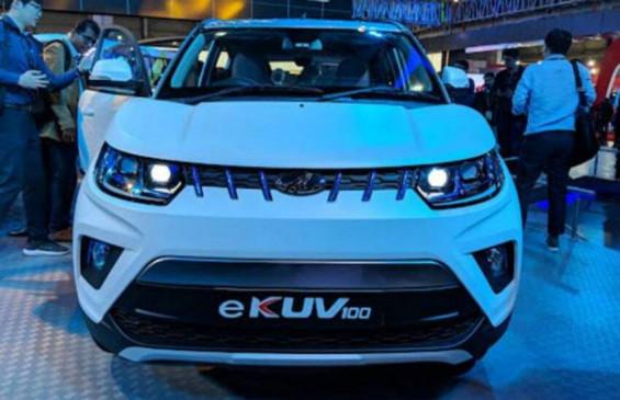 Mahindra eKUV100 एक बार फिर आई टेस्टिंग के दौरान नजर, सिंगल चार्ज में देगी 150km रेंज