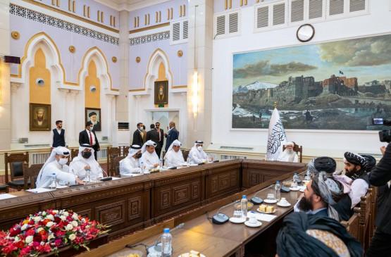 कतर के विदेश मंत्री काबुल में, तालिबान नेतृत्व से की मुलाकात