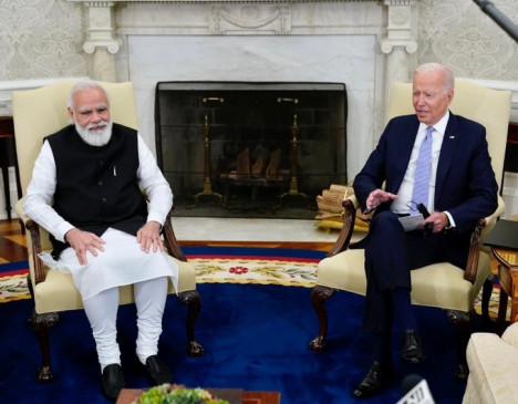 पीएम मोदी और राष्ट्रपति बाइडेन ने की भारत-अमेरिका संबंधों के नए अध्याय की शुरूआत