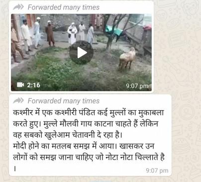 क्या कश्मीर में पंडित ने किया मुस्लिम कसाईयों का विरोध? जानिए वायरल वीडियो का सच