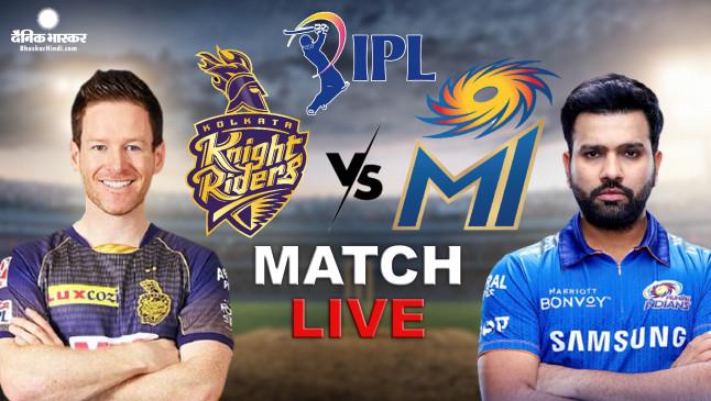 IPL 2021 MI VS KKR Live Updates