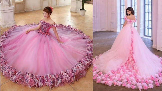 Watch here the best and latest collection of pink dresses