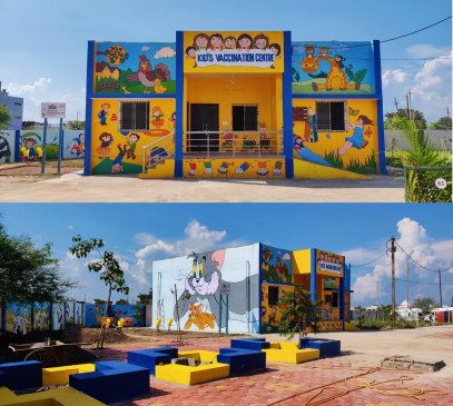देश का पहला चाइल्ड कोविड वैक्सीनेशन सेंटर, खिलौनों और झूलों का भी आकर्षण
