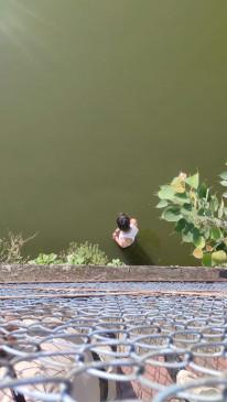 मां की मौत से आहत बेटे ने तालाब में लगाई छलांग