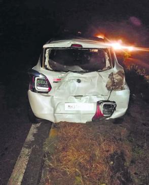 कार को धक्का मार रहे 4 युवकों को  ट्रक ने उड़ाया, 1 मृत, 3 घायल